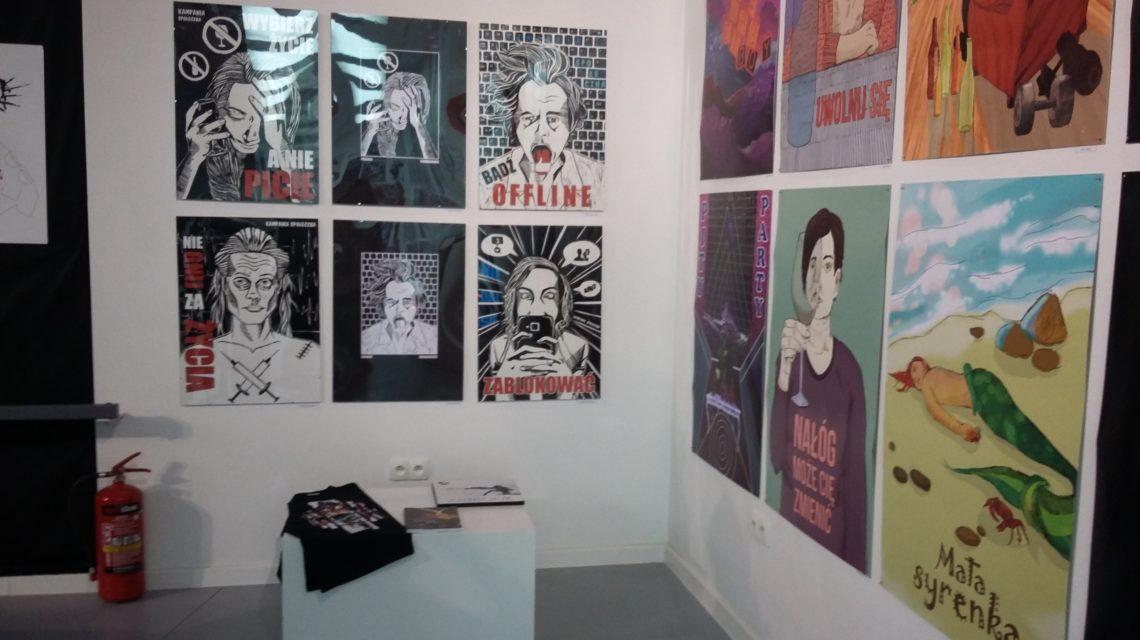 Uczniowie Liceum Plastycznego na wystawie w BWA Bydgoszcz 2017